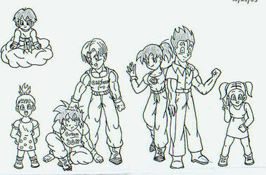 DBZ Kids by Brit-Brit