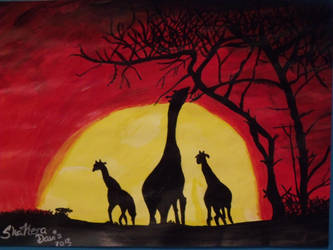 African sunset by KeraDavis98