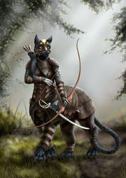 The Huntress by ToastWeasel