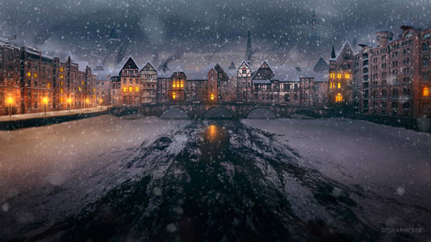 Old Bridge Winter by TobiasRoetsch