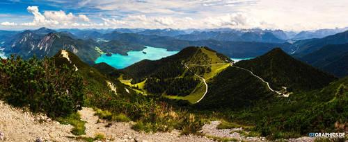Walchensee Panorama by TobiasRoetsch