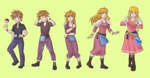 Gary Oak to Princess Zelda Tg Sequence Colored by Rezuban