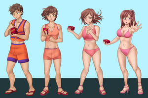 Honoka Tg Sequence Commission colored by Rezuban