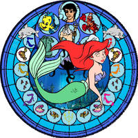 Ariel Stained Glass by Disneyboi411