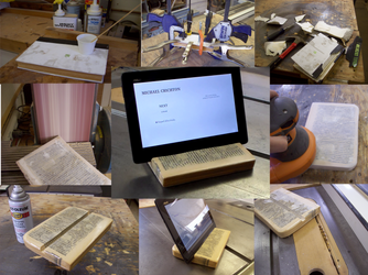 Tablet Stand  Made From a 400 Page Book by kludge77