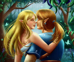 Link x Zelda - Magical Forest by Mayleth