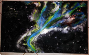 Nebula abstract acrylic by LisandroLee