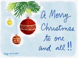 2013 Christmas card #1 by kybrdgal