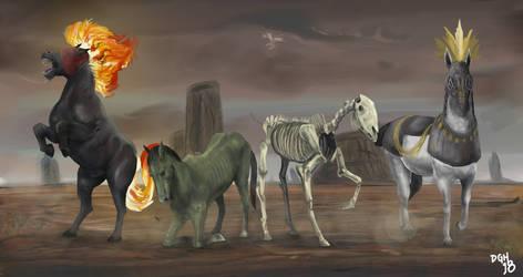 Horses of Apocalypse by DanneArt