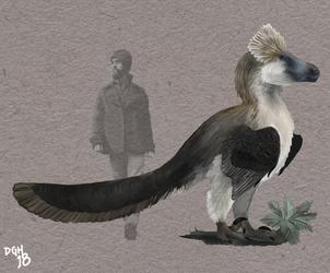 Utahraptor ostrommaysorum by DanneArt