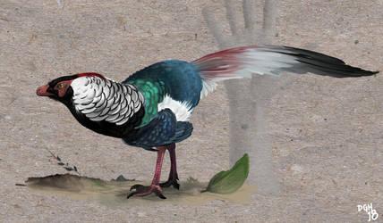 Jinfengopteryx elegans by DanneArt