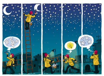 Moon and Stars by YaZakaria