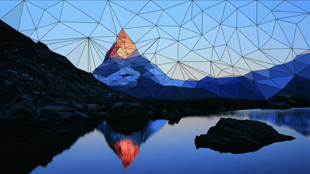 Mountain Triangle Scene by tgs266
