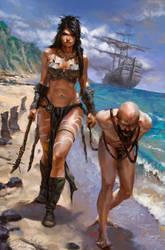 Barbarians beach by Filipe-Pagliuso