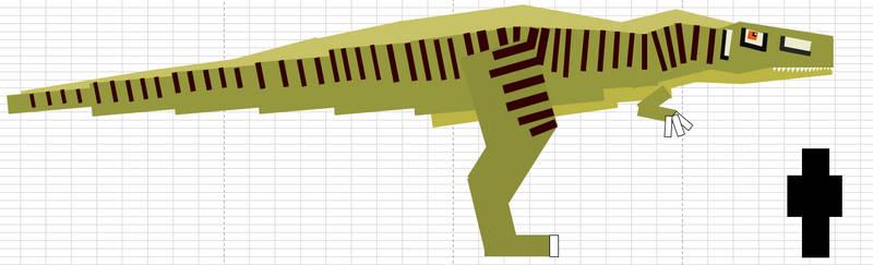 Jurassicraft style Acrocanthosaurus (Female) by StickyPlaysMC