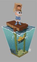 Cardboard sailor by Rhumer