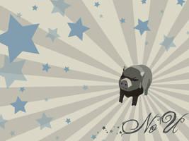 NO U Pig by bumblefly
