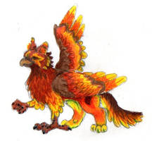 Autumnal Gryphon by bumblefly
