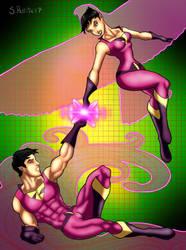 Superhero Siblings: The Wonder Twins by TumbledHeroes