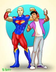 Alternate Superman and Jimmy Olsen by TumbledHeroes