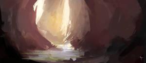 Desert cave by Vindrea