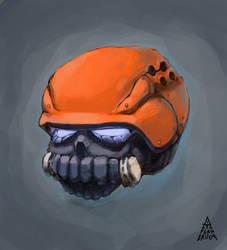 Power armor helmet by Deltaplaneruga
