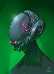 cyber helmet by Deltaplaneruga
