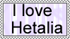 I love Hetalia stamp by FearlessLullaby