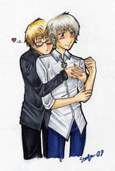 hug by semla-chan
