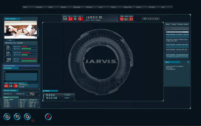 Jarvis Os Theme Modified for Rainmeter(Screenshot) by sg1-aprophis