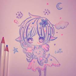 Kawaii doodles by RainingBrokenTeacups