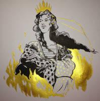 Inktober: Day 1: Queen Viktoria by Paperwick