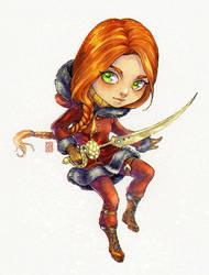 Chibi Caroline by Nuaran