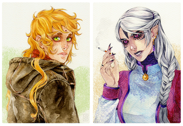 Ilien and Mire by Nuaran