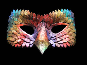 Feather Mask by StephieSparkles