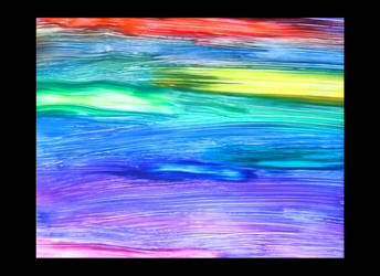 Muted Rainbows Abstract Wax by StephieSparkles