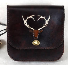 Stag Pouch by StephieSparkles