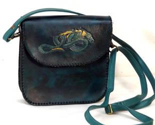 Teal Dragon Bag by StephieSparkles