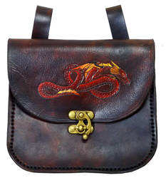 Red dragon Bag by StephieSparkles