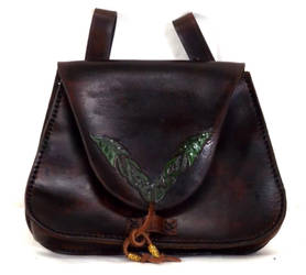 Green Leaf Bag by StephieSparkles