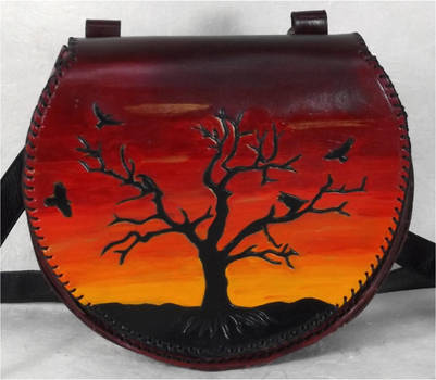 Sunset Raven Tree Bag by StephieSparkles