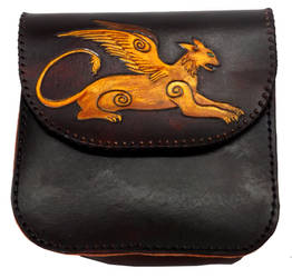 Winged Lion Belt Pouch by StephieSparkles