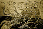 The kraken lives by Greenminerthescoffer