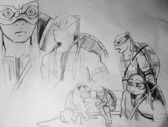 Tmnt animation  sketches by Greenminerthescoffer