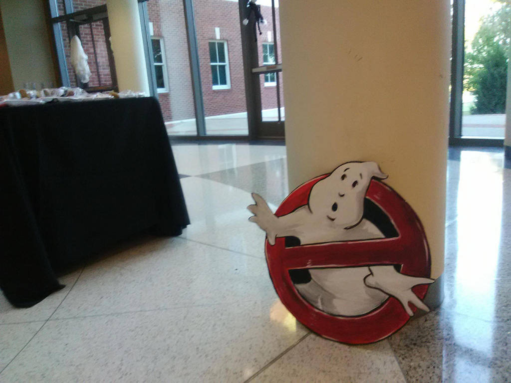 Ghost Busters sign by Greenminerthescoffer