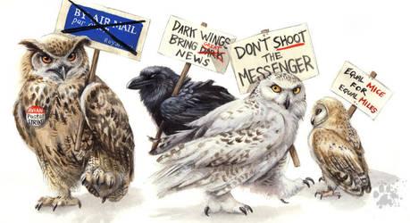 Avian Postal Strike by screwbald
