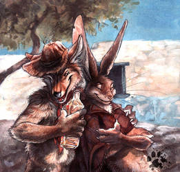 The Coyote Gave Me Worms by screwbald