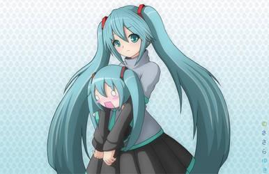 Miku and Hachune by yukisasara