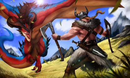 Viking Vs Dragon 2018 by DoomGuy26