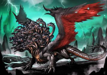 100Headed Dragon by DoomGuy26